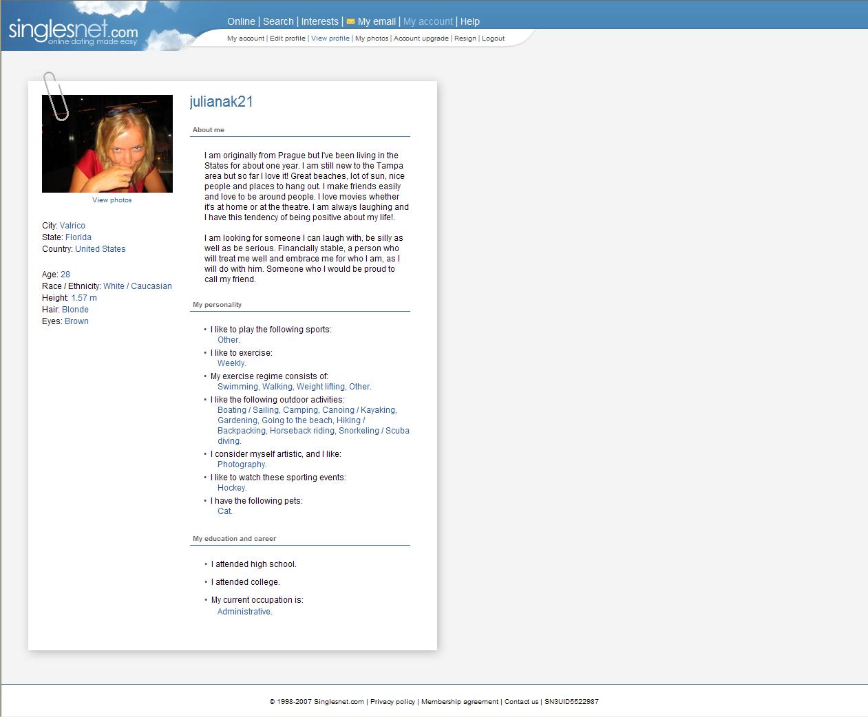 news company profile singlesnet